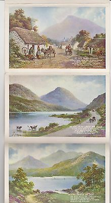 5 view Letter card of Ireland  .. from original water colours by Brian Gerald