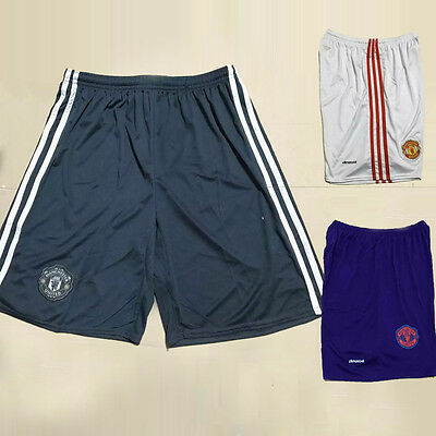 Mens Adult Manchester United Football Soccer Sports Shorts Pants Size S-XL