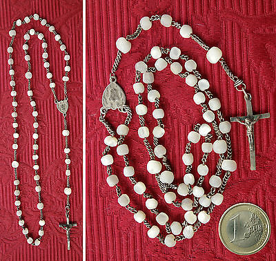CHAPELET Ancien en NACRE - Complet - Antique Mother-of-pearl ROSARY