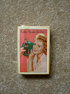 Vintage Coca-Cola Woman Bowler Bowling Playing Card Deck (Sealed With Stamp)