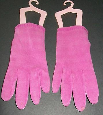 Raspberry Pink SZ 7 Italy Cotton Vintage 50s Womans Dress Gloves Short Wrist