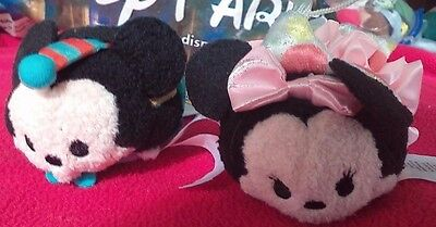 Disney Tsum Tsum Disney Store 60th Anniversary Set of 2 Mickey and Minnie Mouse