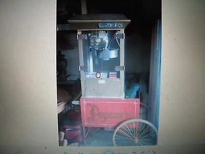 """Antique Gold Medal """"Gay 90's""""  Popcorn Machine on Cart"""