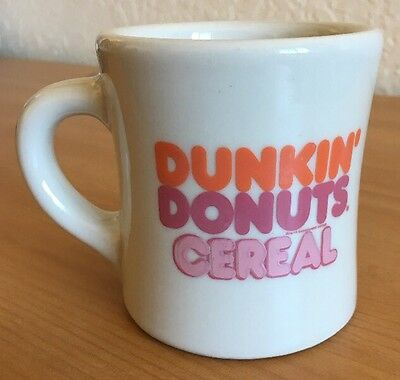 "DUNKIN' DONUTS ""Cereal"" VICTOR USA Restaurant Heavy Duty Coffee Mug Cup"