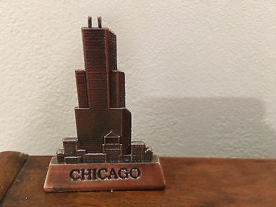Chicago Skyline Souvenir Paperweight Sears Willis Tower In Box