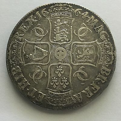 1664 Crown, Superb Example, Charles II, UK, Great Britain, England