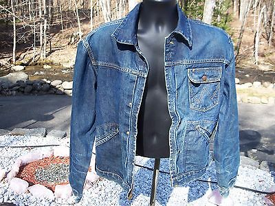 Vintage Wrangler Blue Bell Sanforized Blue Jean Jacket Size 44 Men L Women XL