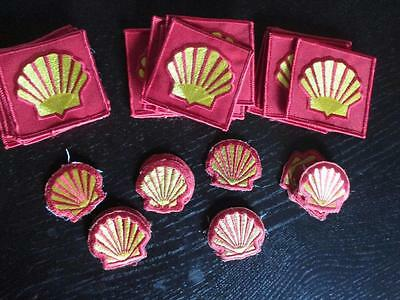 Vintage Shell Oil Sew On Patches Lot 33 New Never Worn Yellow & Red Resale?