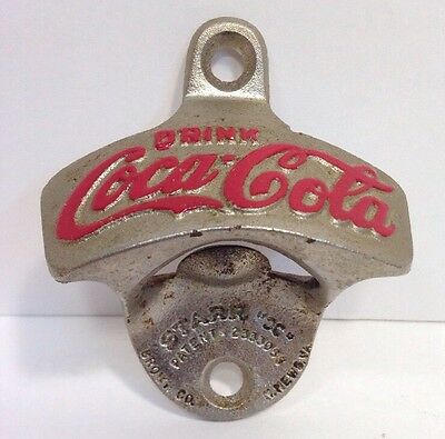 VTG Starr X COCA-COLA Bottle Opener Wall Mount Brown Co W Germany