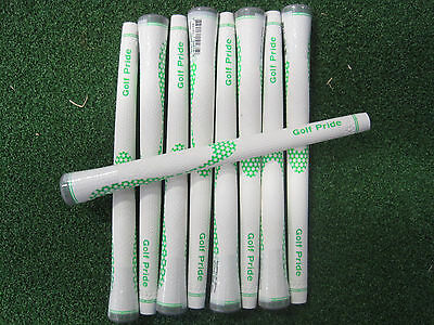 NEW Mens Golf Pride GOLF GRIP White/Green (QTY 9)