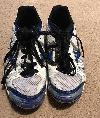 Mizuno Wave Bolt 2 Women's Athletic Volleyball Shoes Size 9 White/Blue