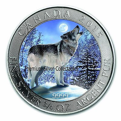 2015 Canada Grey Wolf Series - Coin 1 of 4 Winter 3/4 Ounce Pure Silver .9999