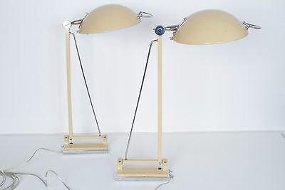 RARE Vintage Mid-Century Pair of Stilnovo Wall Lamp Sconces 1960s Industrial