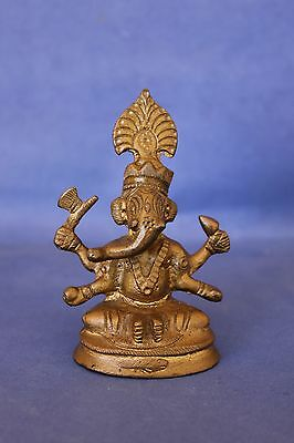 Antique 1930's Indian brass Ganesh deity.