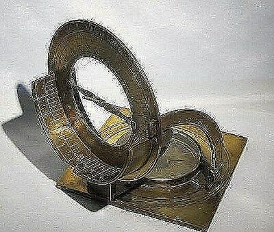 Antique Brass Equinoctial Dial,Sundial Compass Signed T.W. Dated 1741