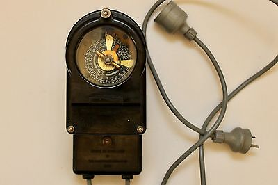Vintage Bakelite Timer Switch, Mechanical, Horstmann Gear Co ENG Steampunk - GVC