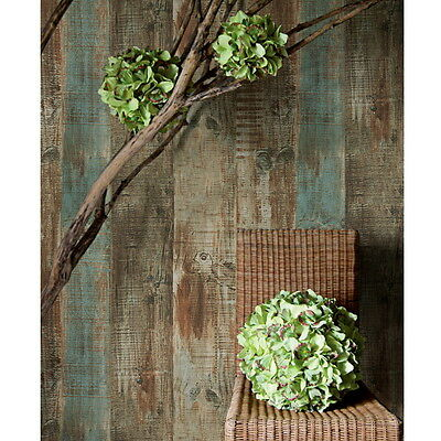 "Vintage wood PVC waterproof Vinyl Background Wallpaper wall decor 20.8""x393.7"" N"