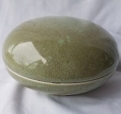 Chinese Celadon glazed seal paste box - Song Dynasty??