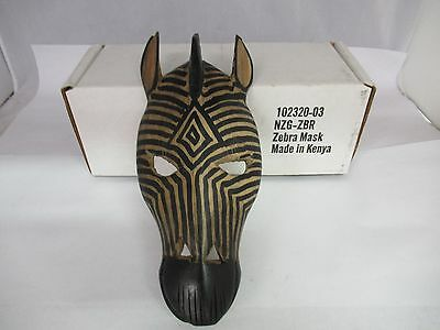 Wooden Hand Carved Decorative Zebra Mask, 276-L