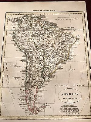 Antique Map Of South America - America Meridionale Da Arrowsmith