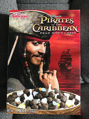 Pirates of the Caribbean cereal box