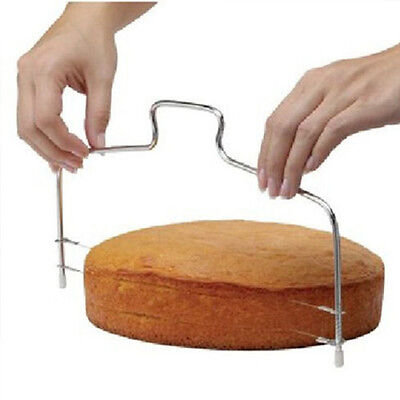 Adjustable Wire Cake Slicer Leveler Bread Dough Cutter Trimmer Stainless Steel A
