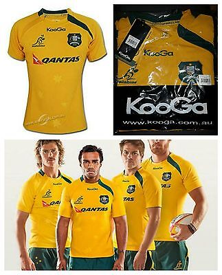New Official Wallabies Men's Pro OnField Jersey Rugby Union KooGa Large RRP $160