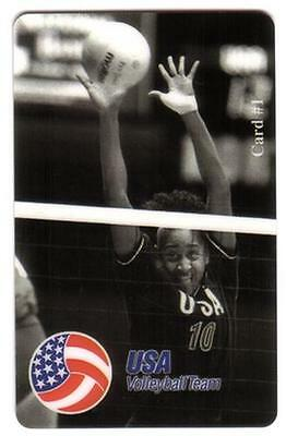 10u Official USA Volleyball Team: Set of 6 Cards (12/14/98) Phone Card