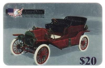 5x $20. Oldtime Automobiles Chrome Set of 5 Different Phone Card