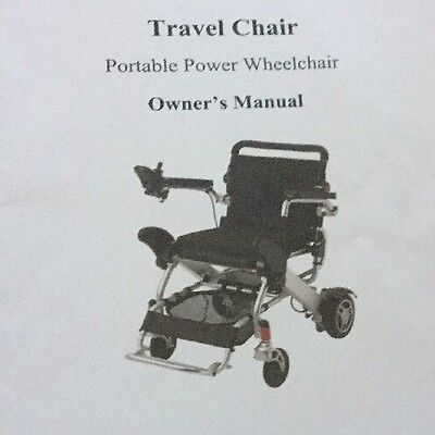 Companion Folding Travel Electric Wheelchair +  Matching Case