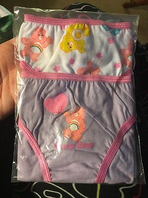 NEW 2 pack Care Bears Girls Underwear Briefs Panties Sz 7/8 Vintage Cotton Cheer