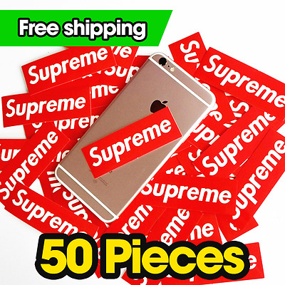50pcs/lot Supreme Stickers 9*3cm Vinyl Decal PVC Laptop Skateboard Luggage