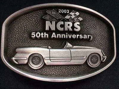 1953 Corvette 50th Anniversary NCRS Pewter Belt Buckle NO SERIAL #  BRAND NEW