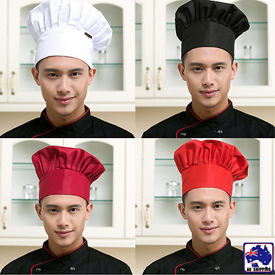 Chef Hat Baker Kitchen Cook Restaurants Catering Cap Men Women Black Red CTSK706