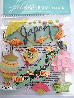 JOLEE'S BOUTIQUE JAPAN Oriental Asian Asia Scrapbook Craft Sticker Embellishment