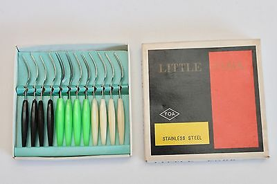 Vintage Retro Little forks - Japan - Cocktail Forks - Original Box of 12 - GVC