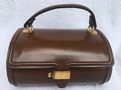 Rare! Antique Collectible Old Doctor's Style Leather Brown Small Bag Circa 1940s