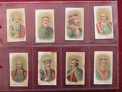 """25, Rare 1911/17 silk """"Kings & Queens of England"""" Cigarette cards."""