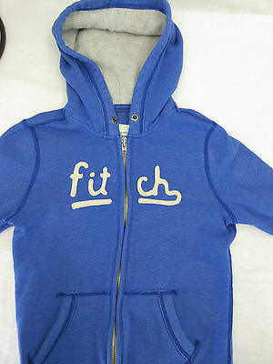 ABERCROMBIE & FITCH Kids Blue Zip Up Hoodie Size L Large Soft Hooded Sweater