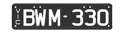 """Set of VIC personalized number plates """"BWM-330"""""""