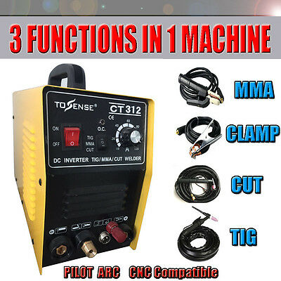 Inverter DC TIG/MMA/CUT Welding machine 3in1 pilot arc plasma cutter & welder
