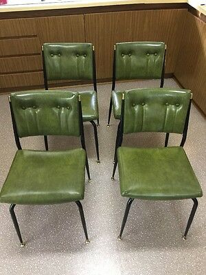 Vintage Retro Vinyl Chair Set Lot Dining Cafe Bar Kitchen Deoling