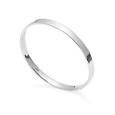 New New 925 Sterling Silver Flat  2mm Plain Band Polished  Ring In Sizes G-Z