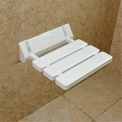 Wall-mounted Drop-leaf stool, Foldable Shower Seating Chair, Folding Bath Seat