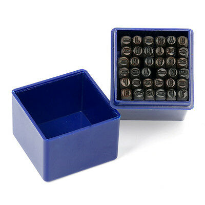 "36 pc 1/8"" 3MM Uppercase Letter & Number Steel Stamp Die Punch Jewelers Set"
