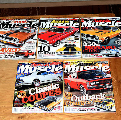 * Lot of 5 - Aussie Muscle Enthusiast Car Magazine 's No 12, 19, 24, 29, 30