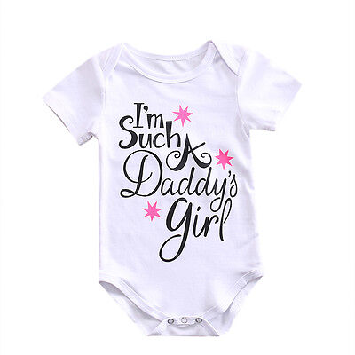 US Cute Baby Girl Romper Outfit Clothes Sunsuit Outfits Newborn Infant Jumpsuit