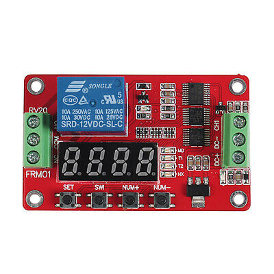 12V DC Multifunction Self-lock Relay PLC Cycle Timer Module Delay Time Switch AU