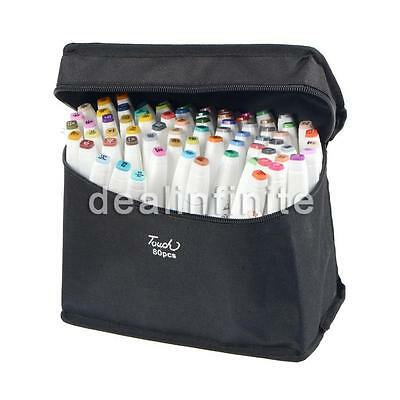 80 Color Set Touch Five Alcohol Graphic Art Twin Tip Pen Marker Broad Fine Point