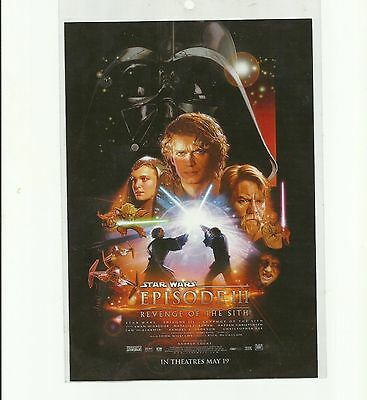 ORIGINAL MAY 19TH 2005 STAR WARS Theatre Flyer REVENGE OF THE SITH EPISODE III